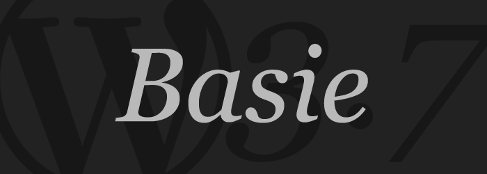 WordPress 3.6 Basie